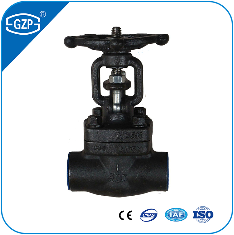Water Oil Fuel Gas Acid Steam Marine Irrigation Application High Quality Industrial Forged Steel Gate Valve