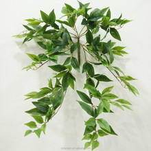 Hot Sale Artificial Green Jewelweed Garland Leaves Vine