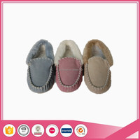 real suede leather women moccasins
