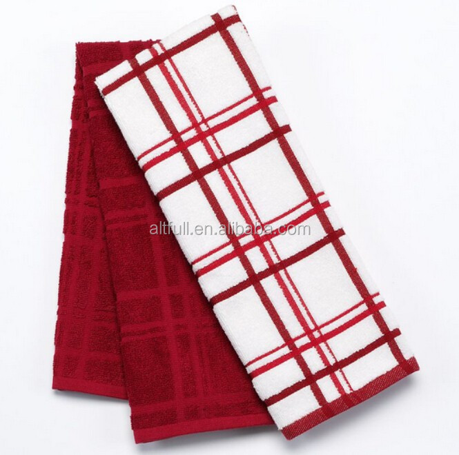 Import from china 100% cotton plaid soft kitchen dish tea towels
