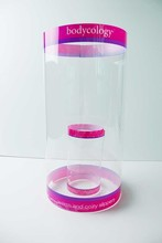 clear tube packaging round plastic box for food