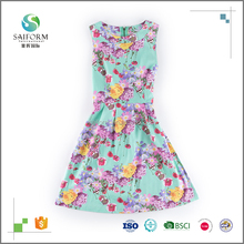 Fashion style Women's floral print tank dress