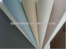 European roller blind,color coated white foaming 100% blackout fabric for foller blinds with CE&ISO9001