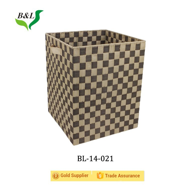 Hot sales handmade woven pp storage box /bin for sundries14-021