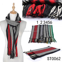 TOROS men Winter Plaid Scarf Neck Fashion Long Wrap Acrylic Shawl Scarf