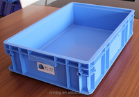 EU standard plastic storage box logistic container 600*400mm from china