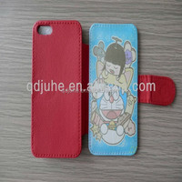 heat transfer leather phone case for iphone 5