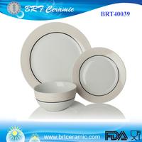 New Design Large Cream Porcelain Dinner Set
