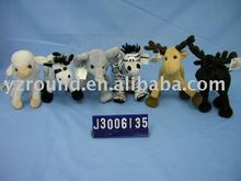 plush donkey,moose,zebra,elephant,sheep fluffy toy