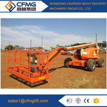 Best price of high quality disel engine folding personal man boom trailer lift price from China famous supplier