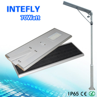 Intefly Hot Sale 70w Integrated Solar Street Light with Alluminium Alloy