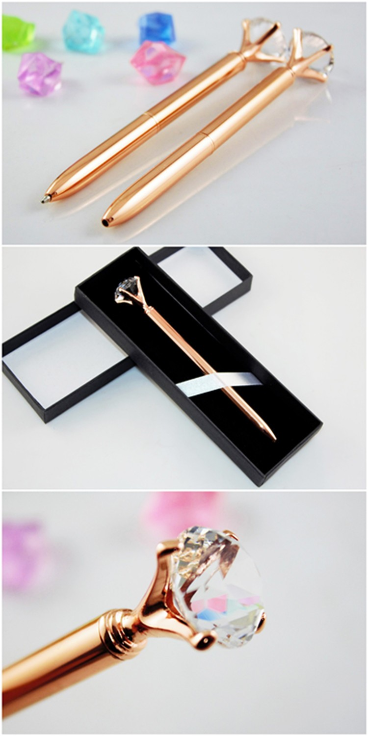 Promotional products Small diamond pen Promotional gold pen