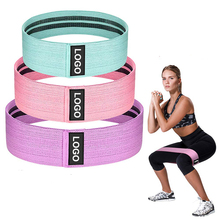 Custom Logo Yoga Gym Exercise Booty Hip Fabric <strong>Resistance</strong> Bands