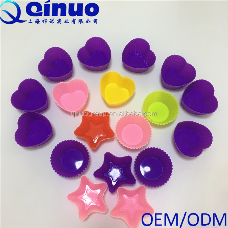 Food grade Silicone different shape muffin cake molds for baking