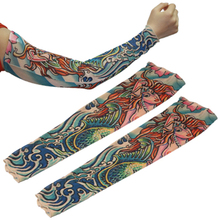 New Products Fake Temporary Tattoo Sleeves Stretchy Body Artwork Arm Stockings