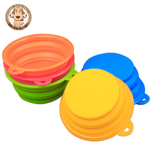 Pets Travel Bowl Portable Foldable Collapsible Silicone Feeding Dishes for Dog Cat