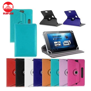 Manufacturer Wholesale Cheap Universal With 4 Springs 360 Degree Rotating Stand PU Leather Case Cover for Lenovo A3000 Tablet