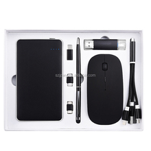 Power bank Gift set with OTG usb drive+Touch Screen pen+charging cable+wireless mouse
