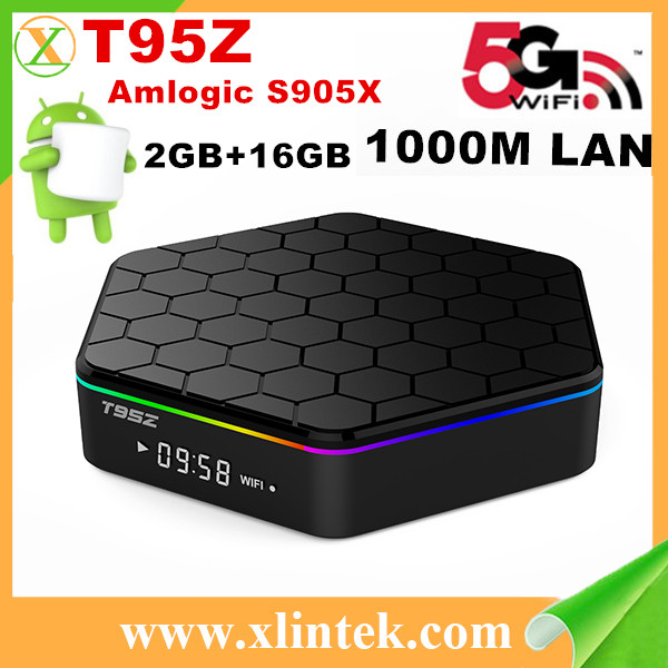Android tv box T95Z Amlogic S905X Android 6.0 2G/16G WiFi 4K Kodi 16.1 Loaded add-ons 1080i/p set top box Smart TV BOX