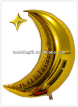 new arrival star&moon large helium foil balloons