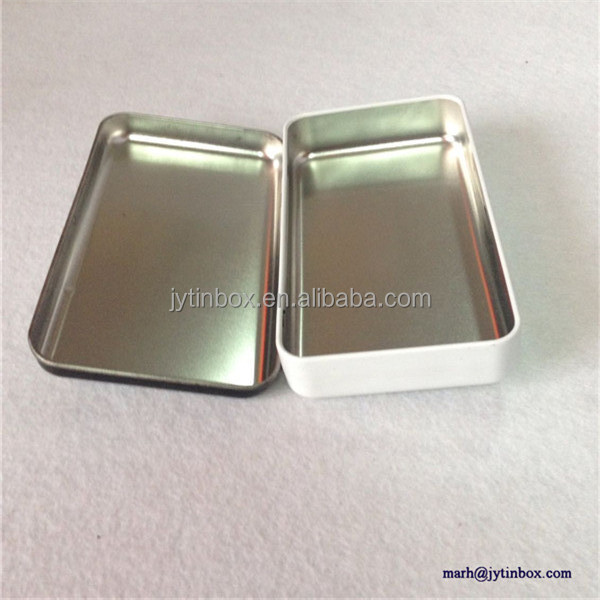 Recyclable Feature customized factory metal small packing postcards tin box/case with hinges