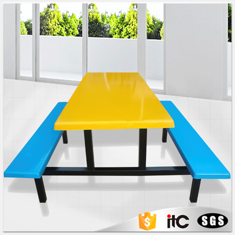 Dining room table 6 seats chair /school canteen table and chair