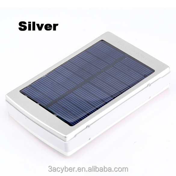 New Solar Powered 30000 mAh Dual USB Mobile Power Bank Battery Charger For Phone Travel Use