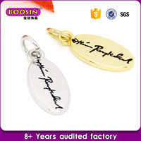 Custom Metal alloy engraved jewelry tags name design charm pendant