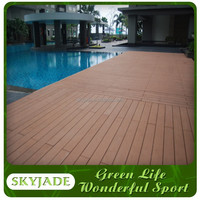 CE certified wood composite deck with 20mm thickness on sale