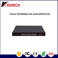 KNTECH 24 port 10/100Mbps PoE switch, POE PABX ,pbx for telecommunication