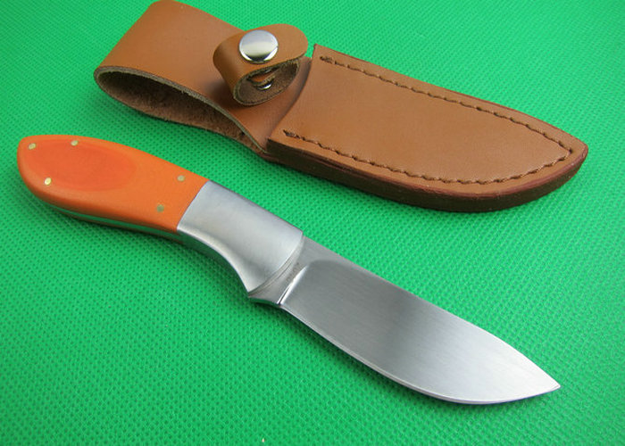 OEM tactical survival knives camping fixed blade knife rescue tool hand 440J2 59HRC blade orange G10 handle 1651
