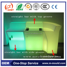 color changing PE plastic led corner bar,led straight bar counters