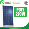 Blueusn Poly 12V Silver Frame Solar Panel 250w 260w 270w for Apartments in Stock