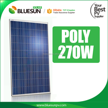 Blueusn poly 12v solar panel 250w 260w 270w for apartments in stock