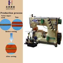 Custom poliestere tape nylon zipper industrial stitching sewing machine