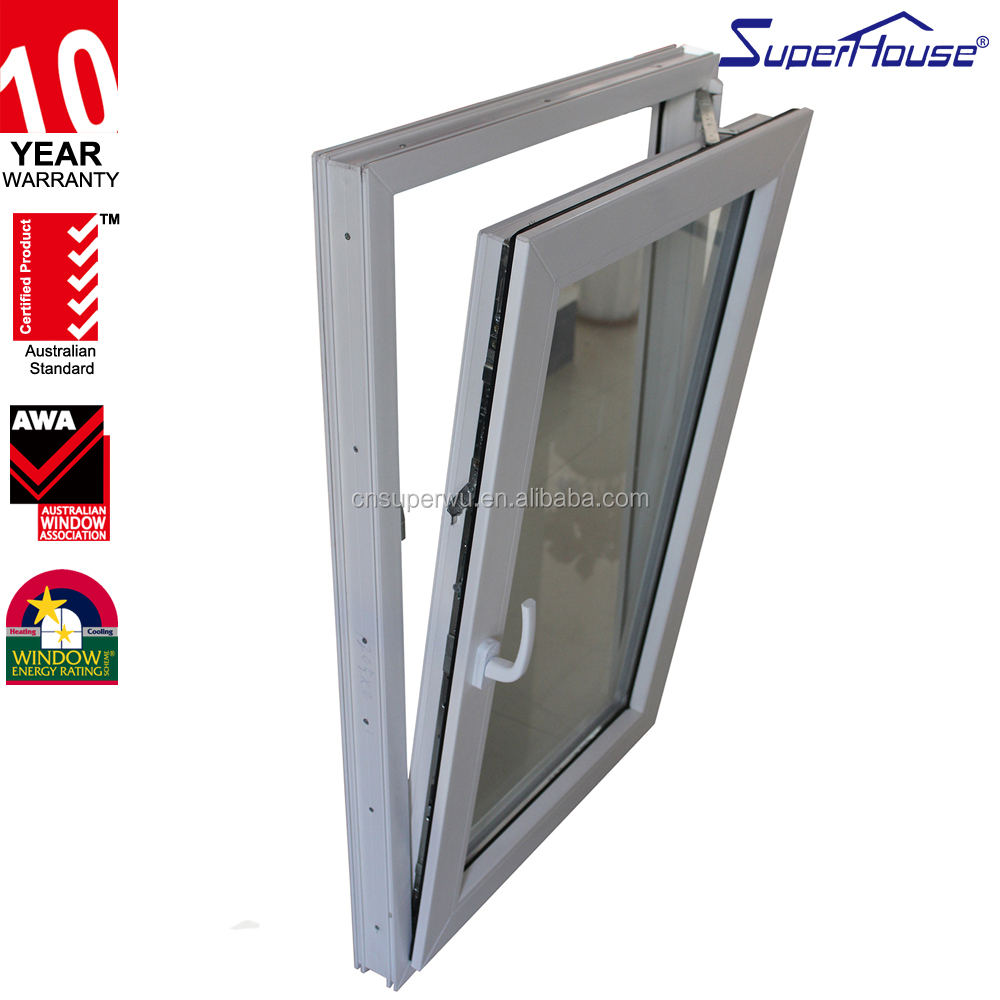 AAMA, CSA, AS2047,NZS4211 standard double glazed glass thermally broken aluminum slide and swing window