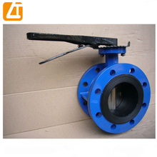 Manual wafer butterfly valve with handle/worm gear dn150