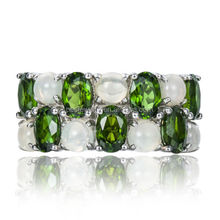 PES fine Jewelry! Chrome Diopside & Opal Solid 925 Sterling Silver Ring (PES6-1382)