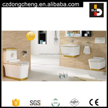 Government Project one piece ceramic color toilet bowl