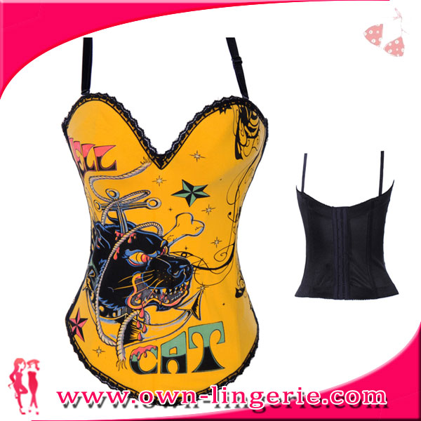 China Supplier High Quality orange corset with dragon