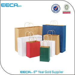 Custom recycled kraft paper shopping bag cheap paper bag printing
