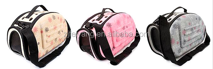 Factory cheap pet carrier airline approved EVA dog carrier bag with handle/pad