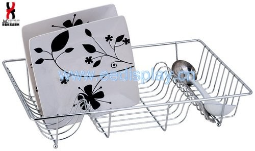 Single Tier Metal Dish Shelf/ Caddy/ Rack