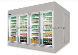 large capacity walk in refrigerator showcase/hot sale fridge