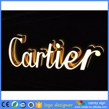 2016 high bright 3D custom acrylic neon channel sign