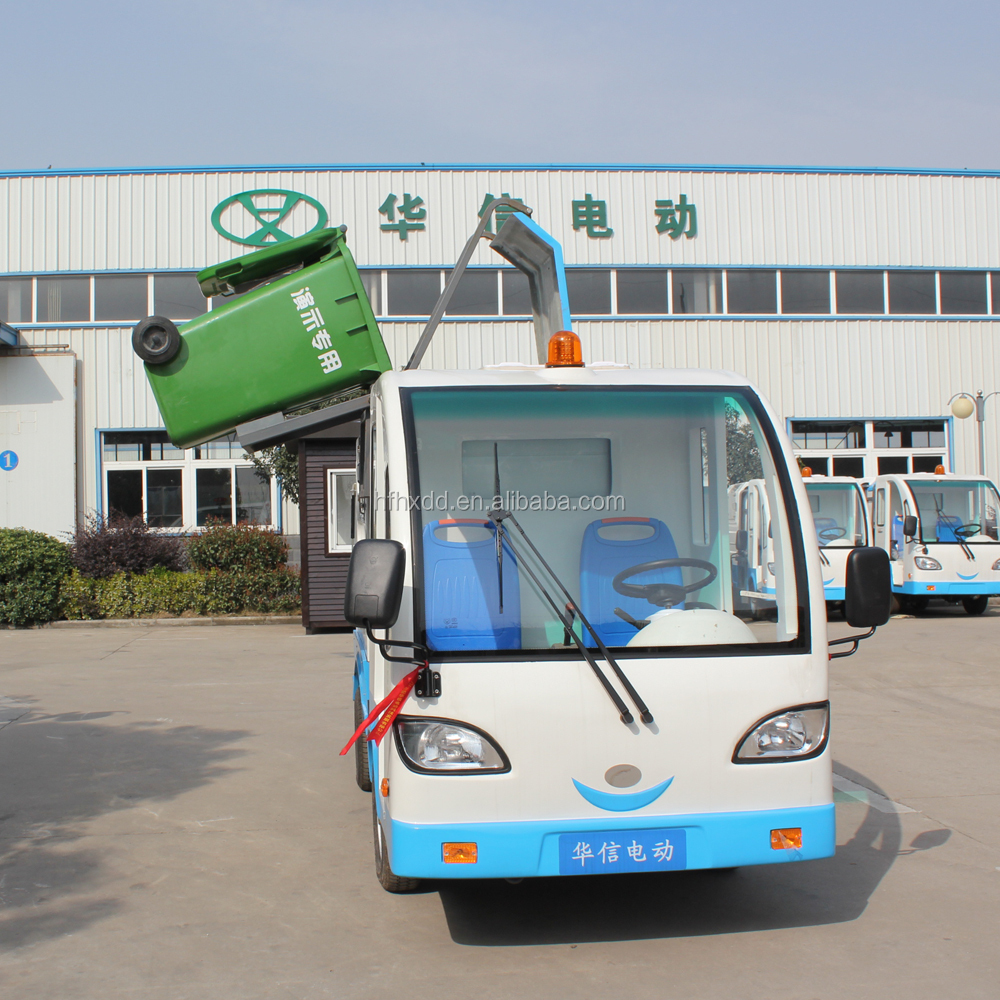electric garbage transport vehicle dumping 240L standard garbage bin automatically