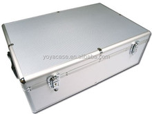 Aluminium CD or DVD Storage Box with sleeves holds up to 800 disks