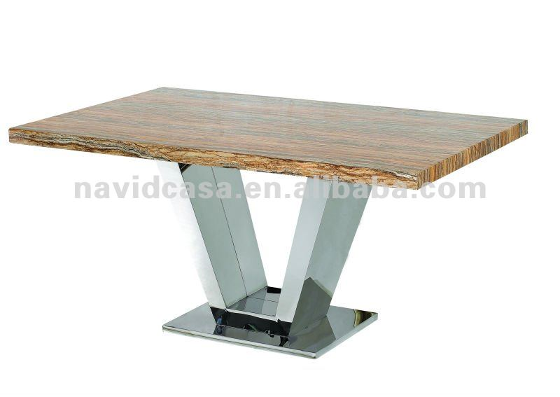 contemporary stainless steel dining table