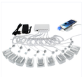 Multi 6 port anti theft security devices Port host with alarm for display tablets and phones