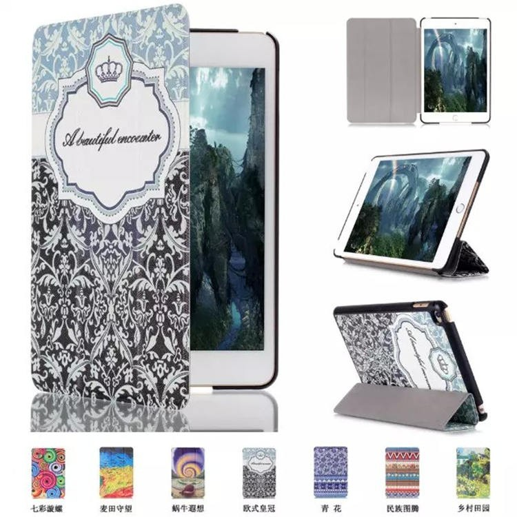 China supplier Slim PU Leather Stand Case for iPad Mini 4 , for iPad Mini4 Cover Cases